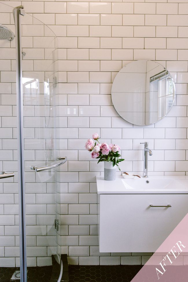 This is the big reveal of bathroom one, Emma-Jane replaced her bath for a shower. The #tiles have also been a big part of the process and on the wall she has used subway tiles. Classic white subway tile will always add timeless appeal to any bathroom.