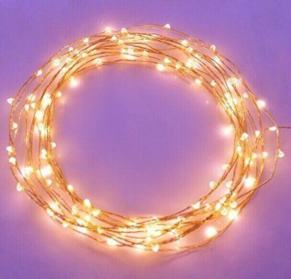 The Original Starry String Lights Warm White Color LED's on a Flexible Copper Wire
