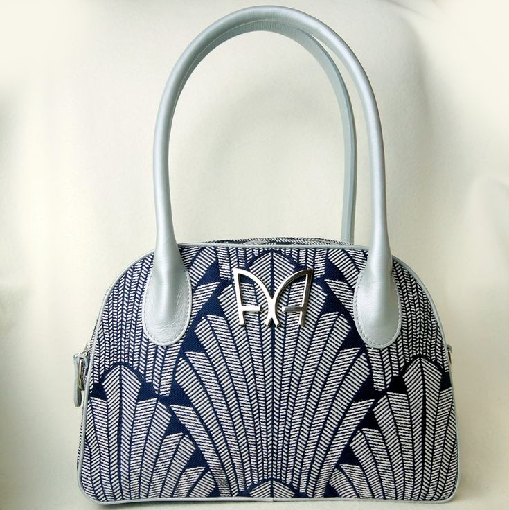 Sac à main de créateur Made in France Sac Iconique Marine Argent #fashion #style #gifts #art #love
