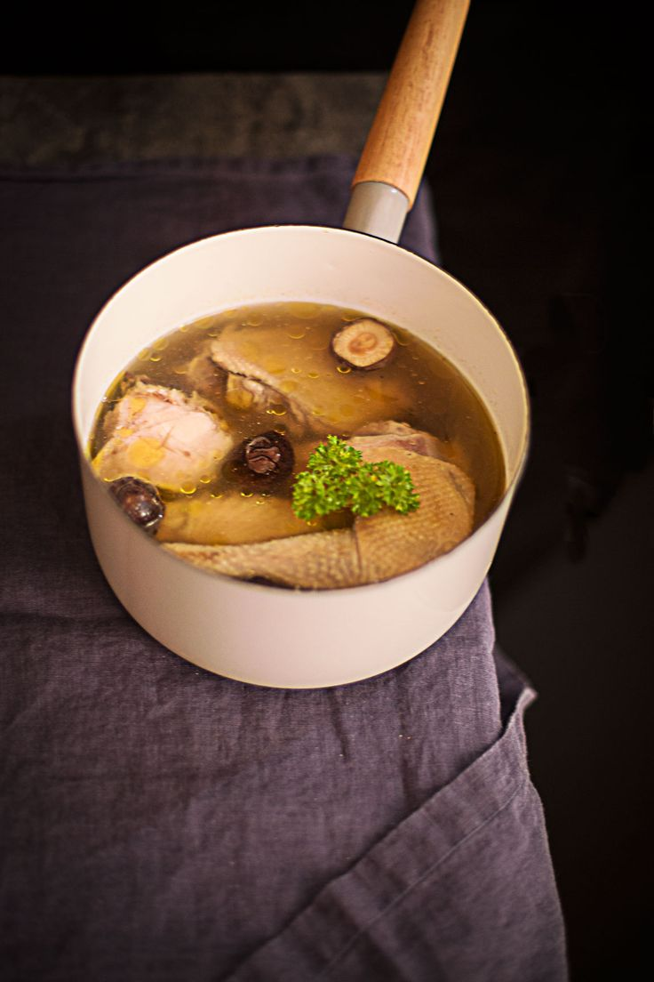 Super-comforting and tasty homemade chicken soup.