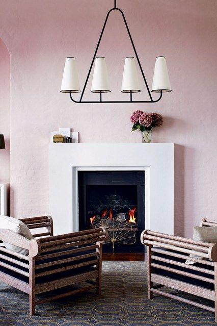 Pale Pink Art Deco Living Room - Design Ideas & Pictures (houseandgarden.co.uk)