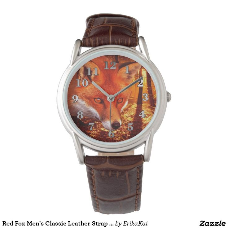 Red Fox Men's Classic Leather Strap Watch