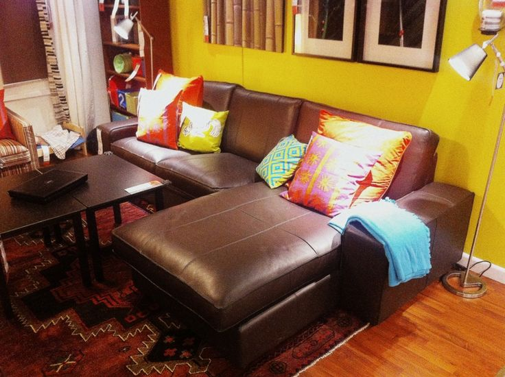 Ikea Leather Couch. Sawtelle Dark Brown Leather Sectional Sofa Set ...