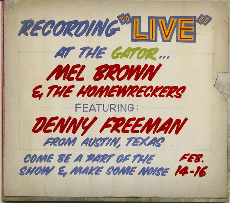 Mel Brown - Live At Pop The Gator
