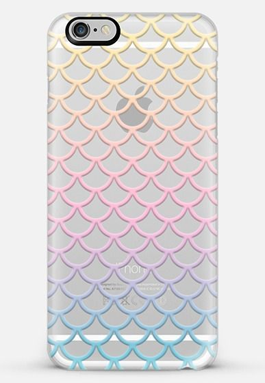 Pastel Mermaid Scales Transparent iPhone 6 Plus Case by Organic Saturation | Casetify #finfun #mermaids #mermaidtail www.finfunmermaid.com