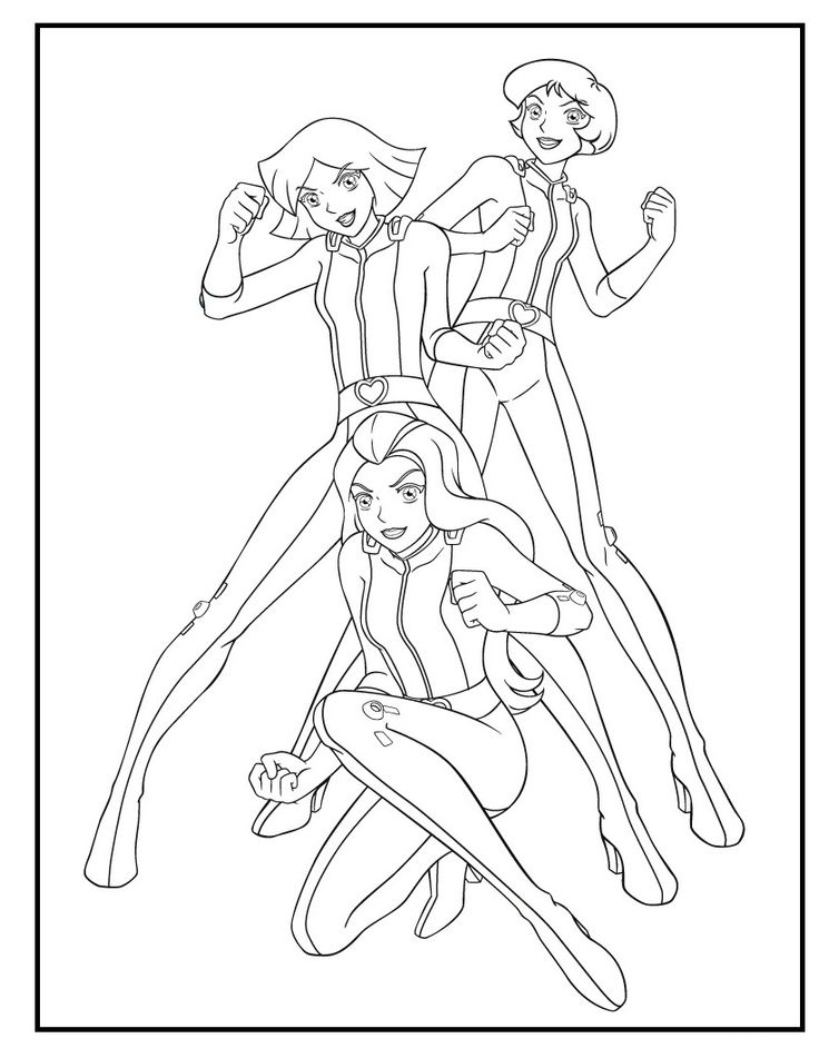 coloring pages totally spies - photo#18