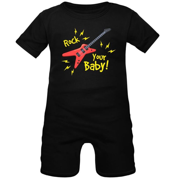 Barboteuse bébé avec impression : ROCK YOUR BABY