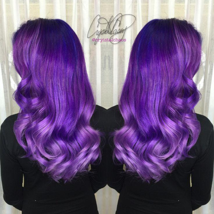 Purple Hair Instagram @CryistalChaos #virginiabeach #mermaidhair #unicornhair #haircolor #joico @hairtips