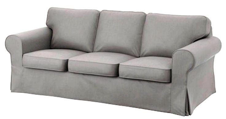 Ikea Ektorp 3 Seat Sofa Cotton Cover Replacement Is Custom Made Slipcover for IKea Ektorp Sofa Cover (light gray)