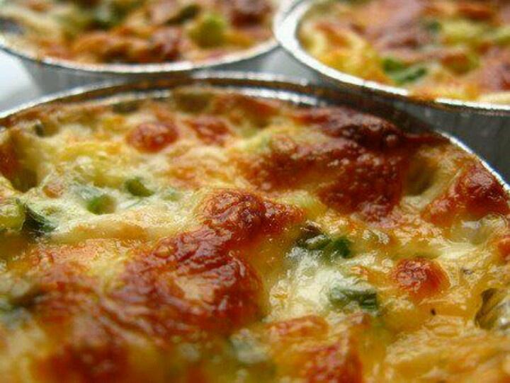 Quice spinaci, gorgonzola e pancetta
