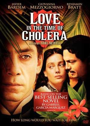 love in the time of choleraMovie Posters, Cholera 2007, Love In The Time Of Cholera, Book, Favorite Moviesshow, Movie Time, Time Favorite, Favorite Film, Javier Bardem Movie