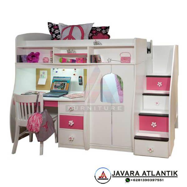 Ranjang Tingkat Anak Perempuan Minimalis Furniture Anak Terlengkap Ranjang Tingkat Kamar Tidur Kecil