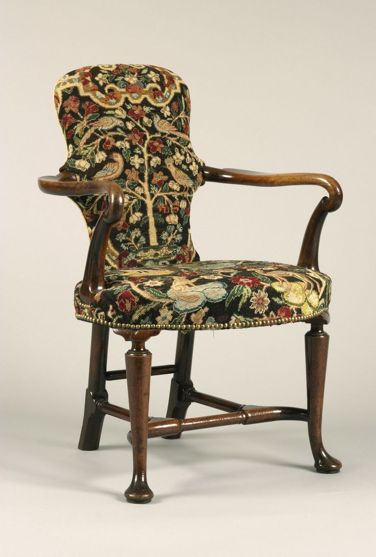 English   Walnut Queen Anne Period   Shepherds Crook Armchair with  Contemporary Needlework   Michael Lipitch160 best Needlepoint Upholstered Chairs images on Pinterest  . Antique Queen Anne Upholstered Chairs. Home Design Ideas