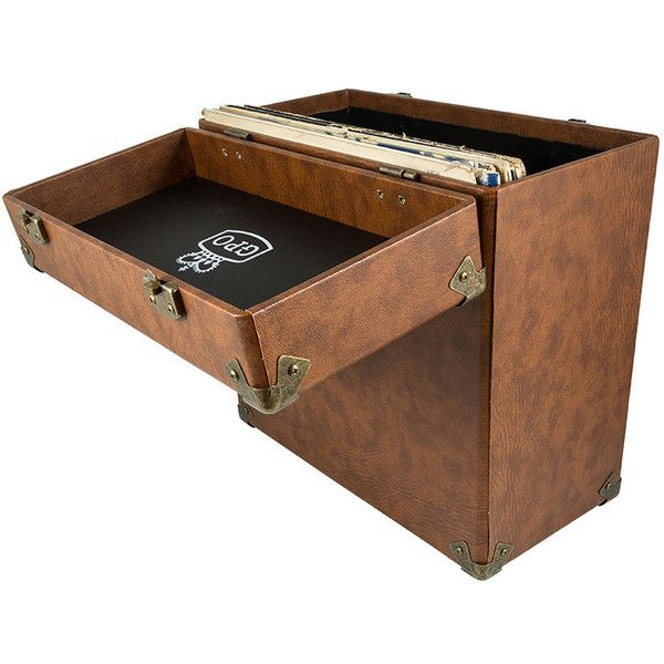 Gpo Retro Vinyl Record Case Brown 43 Liked On Polyvore Featuring Home