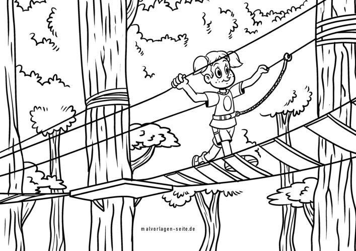 malvorlage klettergarten kletterpark  freizeit