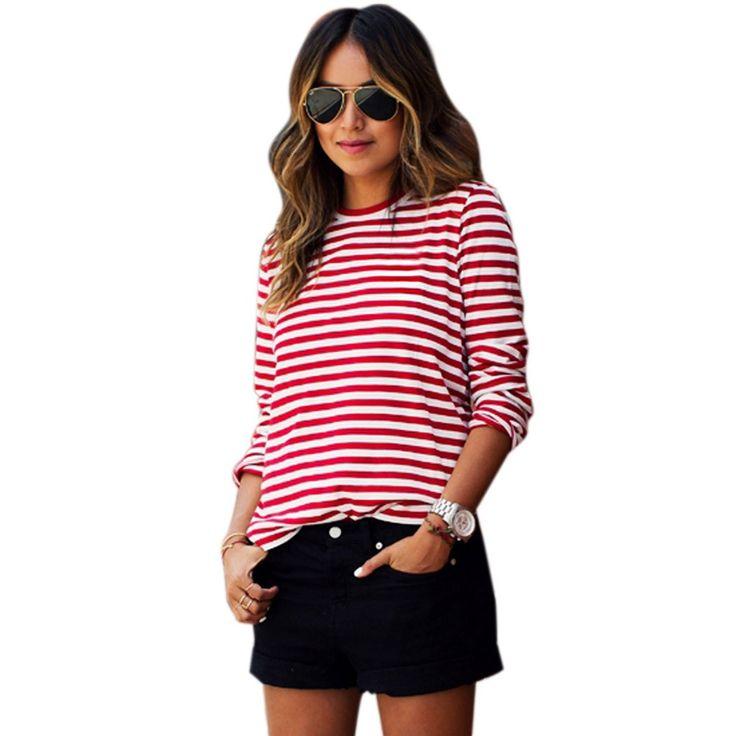 Spring-Summer-shirt-striped-Long-Sleeve-