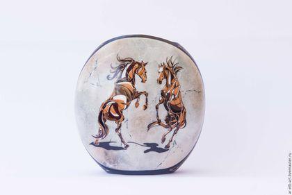 """Вазы ручной работы. Ярмарка Мастеров - ручная работа. Купить Фарфоровая ваза """"Мраморные кони"""". Handmade. Серый, фарфоровая ваза"""