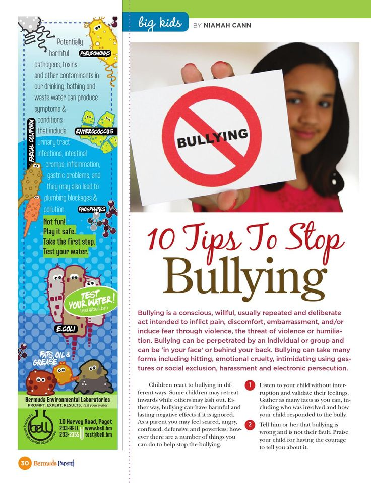 Stop the bullying! #BermudaParentMagazine