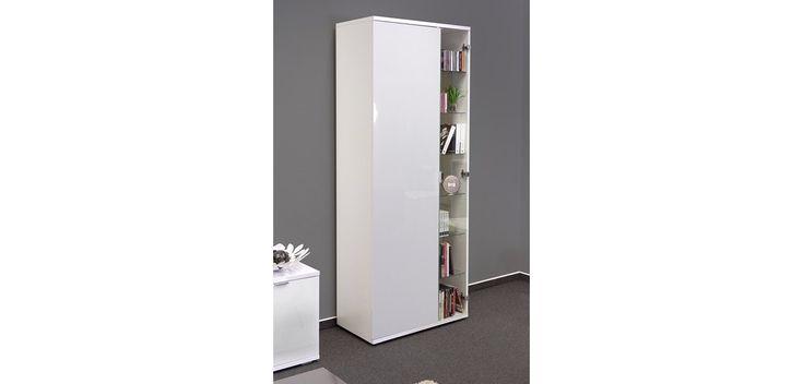 Hochwertige Wohnzimmer Vitrine Mit Glastür In Brilliant Weiß