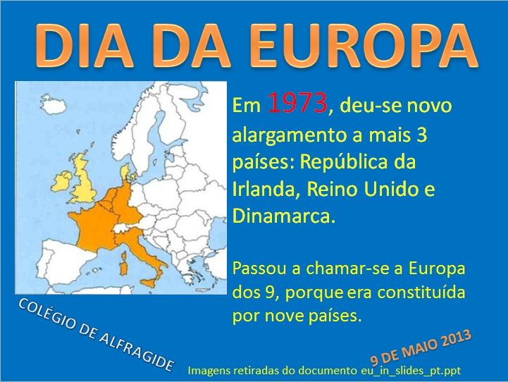 Dia da Europa - SENSIBILIZAÇÃO AO TEMA DA UNIÃO EUROPEIA NO ÂMBITO DAS CELEBRAÇÕES DO DIA DA EUROPA NO COLÉGIO DE ALFRAGIDE
