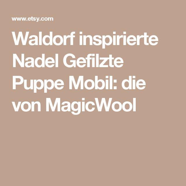 Waldorf inspirierte Nadel Gefilzte Puppe Mobil: die von MagicWool