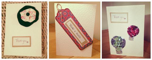 #DIY: Thank You #Cards | #Fashion #blog | #Oxfam GB: Hands Made Cards, Hand Made Cards, Cards Sold, Fashion Blog, Thank You Cards, Thanks You Cards