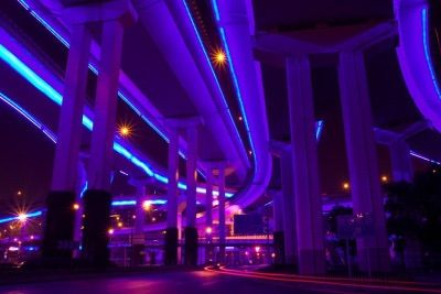Image via We Heart It #aesthetic #blue #glow #lights # ...