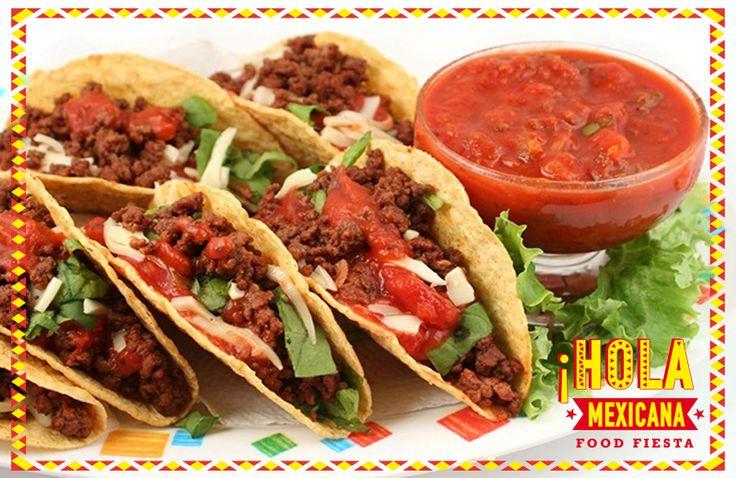#TacoΣαββατο τάκος λοιπόν το φαγητό - σύμβολο του Μεξικού... και το αγαπημένο μας τα Σαββατόβραδα με λαχταριστό κιμά , ολόφρεσκο Guacamole και λαχανικά....όλα τοποθετημένα στη κορυφή μιας τορτίγιας φτιαγμένης από καλαμπόκι... Και η νύχτα ξεκινά ... vamos a comer!! ¡Vamos! a #Hola_Mexicana #FoodFiesta  #Hola #Mexican #Food #Fiesta #En #Salónica [online: http://www.holamexicana.gr/]