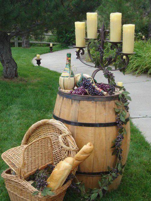 What a romantic entrance to a wedding celebration!  | #vineyard wedding #wine