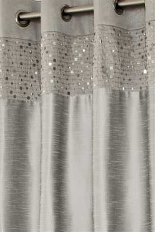 Silver Sequin Banded Eyelet Curtains   I Wonder If They Do These In #purple?