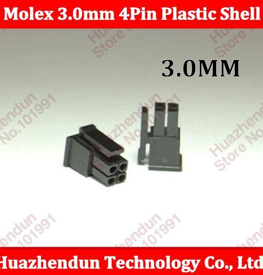 30PCS ATX / EPS PCI-E Molex 3.0mm 2*2pin 4Pin 43645-0400 Male Power Connector Housing Plastic Shell