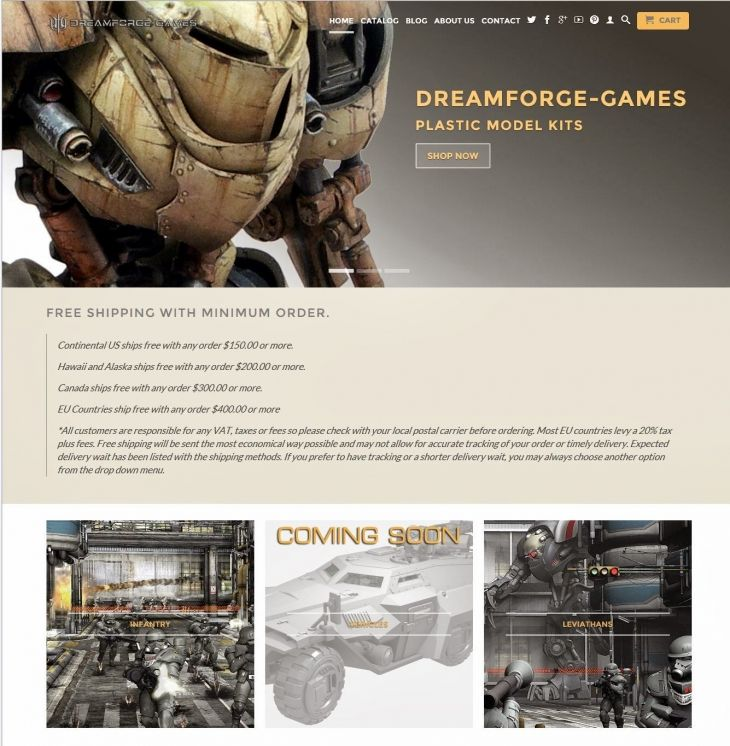DreamForge-Games: New Site Offers Full Retail Store With Leviathans And More