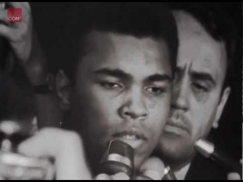 Muhammad Ali interview on not joining the armyA man of principles.Ali show the hypocrisy in so call democracy. Ali was the real deal and draft board was threaten by  Ali out spokeness of the truth.Ali was not no coward he didn't run to Canada.He stand up for his principles right in front of the US Government.And  said no Viet Cong never call him a Nigger !.