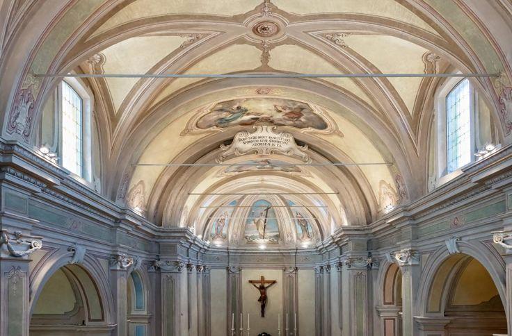 Chiesa San Michele Arcangelo di Certosa - HI LITE Next Fornitura apparecchi di #illuminazione #viabizzuno #tessera #cornice spot two
