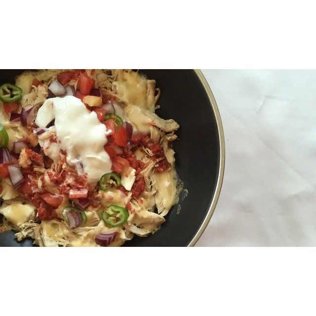 Sartén de pollo mechado al estilo Nachos - fit_happy_sisters