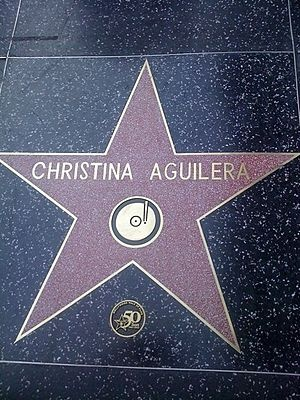 Hollywood Walk Of Fame - Christina Aguilera
