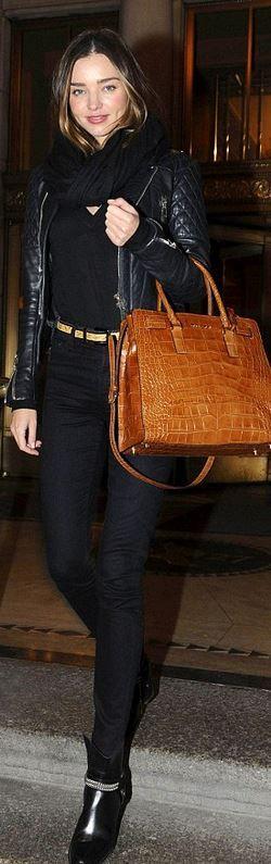 Miranda Kerr: Purse – Michael Kors Jacket – Balenciaga Shoes – Saint Laurent Jeans 0 7 For All Mankind