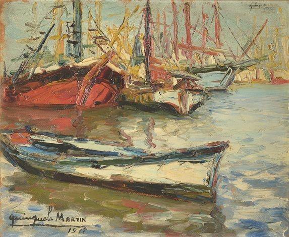 Barcas pesqueras (1918) Benito Quinquela Martín