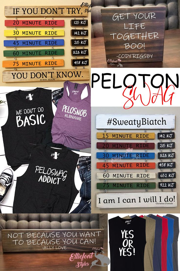 Awesome Peloton Swag Shirts Tanks Wooden Signs And Our