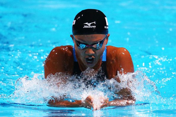 Kanako Watanabe of Japan competes during the Swimming Women's 200m Individual Medley Heat 5 on day nine of the 15th FINA World Championships at Palau Sant Jordi on July 28, 2013 in Barcelona, Spain.