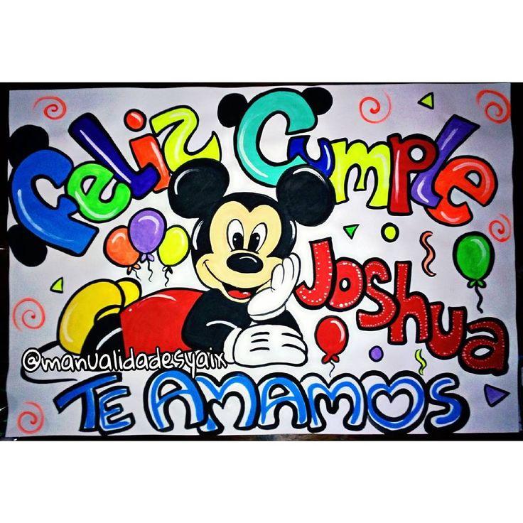 "12 Me gusta, 1 comentarios - Manualidades Yaix (@manualidadesyaix) en Instagram: ""Feliz Cumple Joshua  #pancartas"""