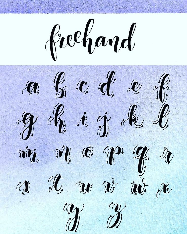 25 Best Ideas About Calligraphy Alphabet On Pinterest