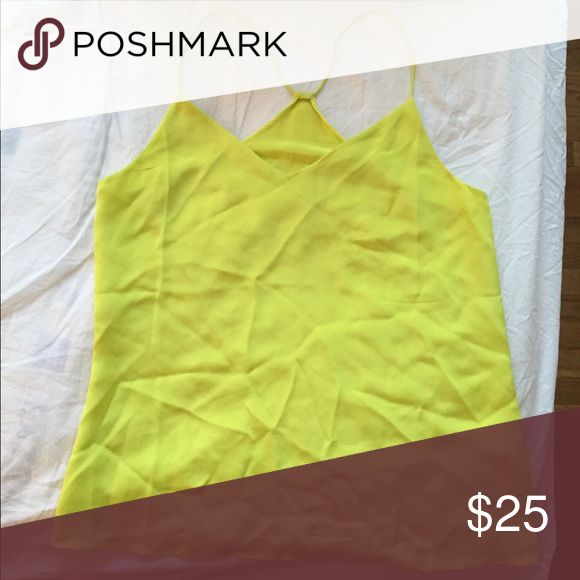 J.Crew women's yellow cami size M This is a women's bright yellow cami top in size M from J.Crew. Like new, still in great condition, worn only once! Note: please excuse the shirt wrinkles. It was stored away in a closet! J. Crew Tops Camisoles
