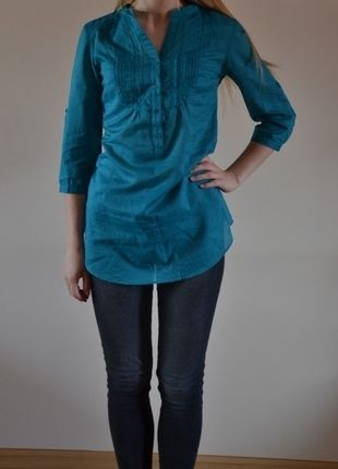 Kup mój przedmiot na #vintedpl http://www.vinted.pl/damska-odziez/koszule/9549220-turkusowa-koszula-camaieu-36