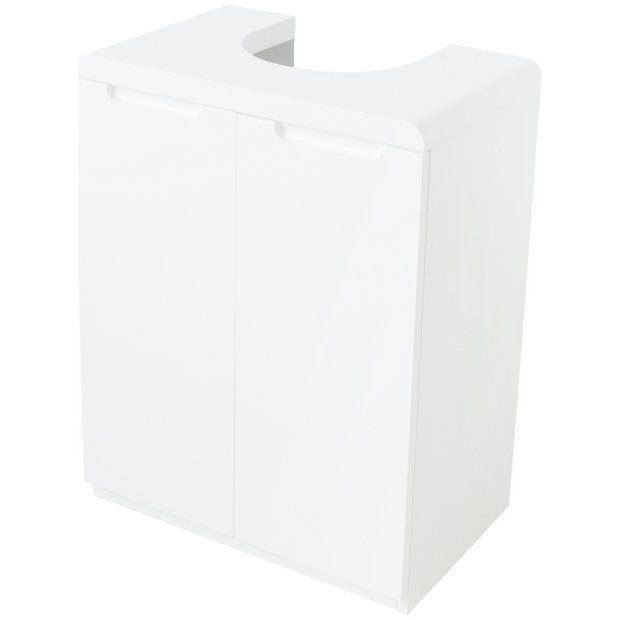 Buy Hygena Curve Under Sink Storage Unit - White at Argos.co.uk - Your Online Shop for Bathroom shelves and storage units, Bathroom furniture, Home and garden.