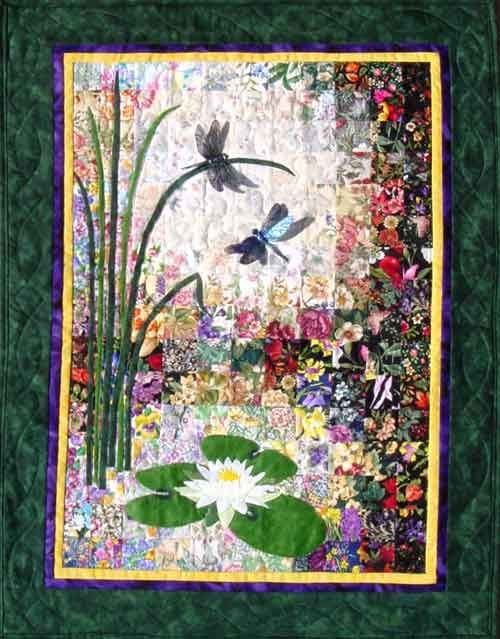 Quot Dragonflies Amp Lilypads Quot Watercolor Quilt Kit Diy