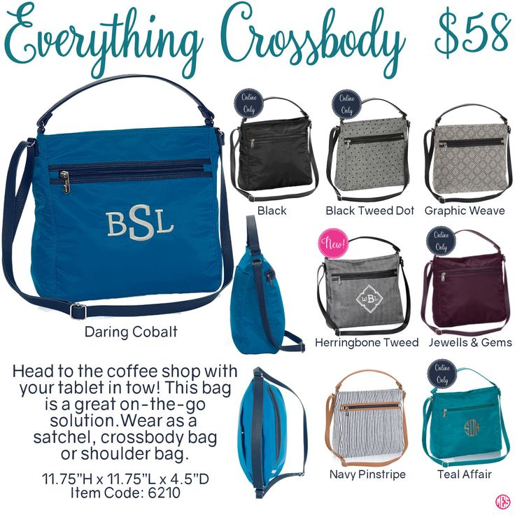Everything Crossbody by Thirty-One. Fall/Winter 2016. Click to order. Join my VIP Facebook Page at https://www.facebook.com/groups/1603655576518592/