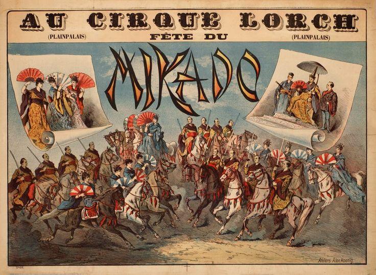 Au Cirque Lorch, Fête du Mikado, Plainpalais Genève. Alex HOENIG (1889 circa)
