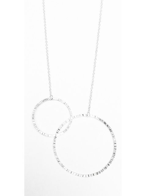 Link Circles Necklace - Sterling Silver