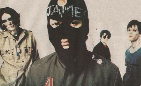 """1994 Manic Street Preachers..James wore this Balaclava when the band performed """"Faster""""on Top of the Pops. The most complaints the BBC ever received for an act on Program in 42 years!"""